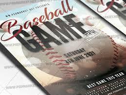 Baseball Tournament Flyer Psd Template By Psd Market On