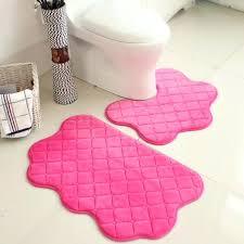 pink bath rug photo 3 of 3 set pink color new soft bath pedestal mat set toilet non slip washable floor hot pink bathroom rug sets