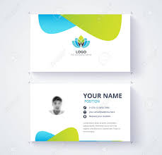 Green Card Template Modern Business Card Template Blue And Green Card Background