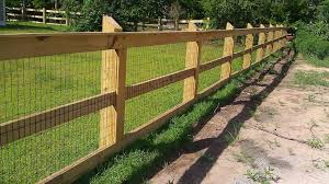 Fence Designs Wood And Wire Backyard Landscaping Fence