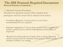 the irb protocol required documents irb cover letter sample