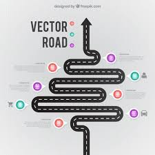 Curved Road Infographic Vector Free Download