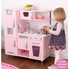 2 Piece Retro Kitchen Kids Vintage Kitchen In Pink Toys Playhouses Cuckooland