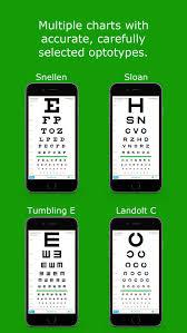 Eye Chart On Phone Eyechart Vision Screening By Dok Llc