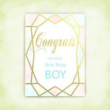 Congratulations For A Baby Boy Geo Gold New Baby Boy Congrats Card Kimenink