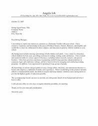 Letter Writing Template Primary New Teacher Cover Letter Format For
