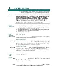 Resume Template College Student Inspiration College Student Resume Templates Medicinabg