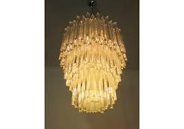 huge murano chandelier traspa triedri 184 prism ar