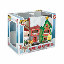 Light Up Pop Up Santa Funko Pop Town Holiday Santas House With Santa Nutmeg