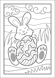 Construction vehicles and tools coloring pages. Easter Bunny Coloring Pages For Kids Free Printable Set