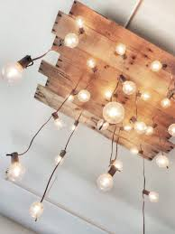 diy handmade reclaimed pallet chandelier wood lamps flush mount lighting