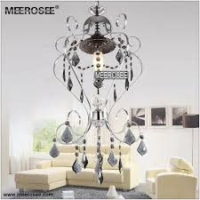 meerosee small fancy glass chandelier light fixture silver re suspension chandelier lamp meerosee lighting md8862 d300mm h600mm chandeliers wrought iron