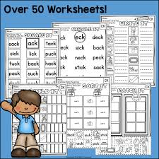 Ck words rule worksheets for kindergarten and preschool. Words Ending In Ck Worksheets And Activities For Early Readers Phoni Starlight Treasures Resources