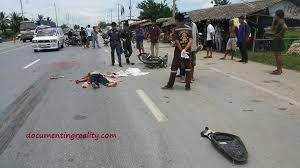 Motorcyclist Vs Truck, Head Obliterated