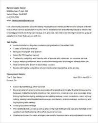 Resume Free Template Hair Stylist Resume Template - 8+ Free Samples, Examples, Format ...