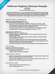 Software Engineer Resume Example. Resume Companion Sample