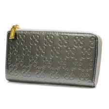 Coach Accordion Zip Large Silver Wallets DVA