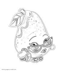 Small Picture Shopkins coloring pictures to print Posh pear