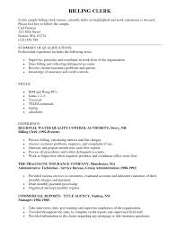 Billing Clerk Job Description For Resume Insurance Clerk Resume Sample SampleBusinessResume 1