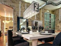 crystal chandelier dining room modern contemporary luxury linear rectangular double f island dining room crystal chandelier lighting fixture in pendant