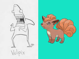 artist unfamliar with pokémon draws characters based on names only produces brilliant results