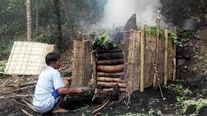 asil gambar untuk proses pembuatan arang kayu