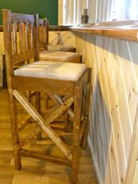 rustic bar stools