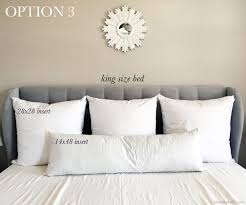 king size pillow size. Brilliant King Pillow Size Guide For King Beds And T