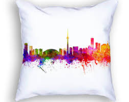 Small Picture Toronto skyline pillow Toronto Canada home decor Toronto