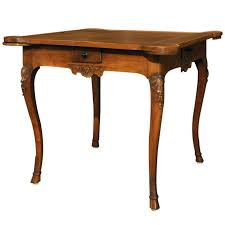 19th century french antique walnut louis xv game table