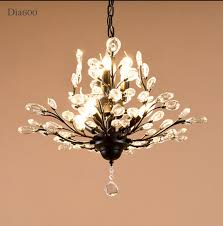china living room 7 lights antique america style metal crystal chandelier lamp lighting finished in black antique brass painting china chandelier