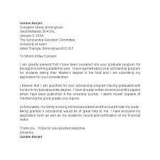 Scholarship Application Cover Letter Sample Scholarship Application