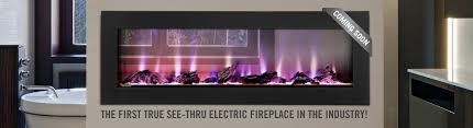 clearion the first true see through electric fireplace in the industry