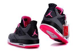 jordan shoes for girls 2015. 2015 air jordan 4 gs black grey hyper pink for sale-7 shoes girls s