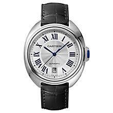 cartier watches ernest jones cartier cle de cartier men s stainless steel strap watch product number 6341160