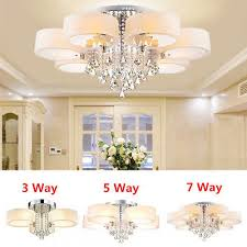 3 5 7 way led crystal ceiling lights chandeliers lamp living room bed room