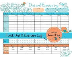 Food And Exercise Diary Weight Loss Journal Food Diet Exercise Log Diet Log Food Tracker Weight Loss Diary Calorie Counter Exercise Tracker
