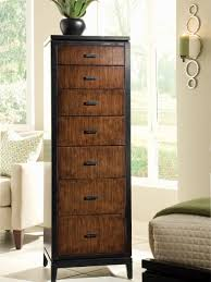 Tall Bedroom Furniture Furniture Dark Stained Tall Chest Furniture With 9 Drawers Of