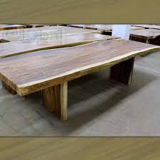 wooden dining furniture. 120\u2033 L Dining Table Solid Acacia Wood Slab Free Form Metal Plated Legs Wooden Furniture