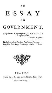 essay on an essay on government online library of liberty