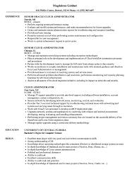 Systems Admin Resumes Cloud Administrator Resume Samples Velvet Jobs