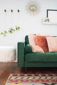 green sofa aztec rug indoor plant ideas