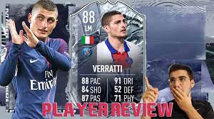 WHAT A CARD!!! INSANE 88 RATED FREEZE MARCO VERRATTI PLAYER REVIEW! FIFA 21  Ultimate Team - YouTube