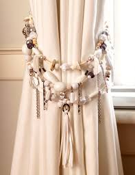 Designer Curtain Tie Backs White Charm Tie Band Beaded Tieback And Tie Band Designs