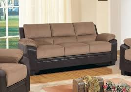 myco furniture carrie mocha fabric dark brown bonded leather sofa reviews ca1135 s