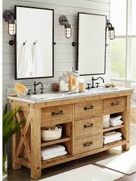 country bathroom lights. Creative Distressed Wood Bathroom Vanities Using Rustic White Oak Lighting Country Lights
