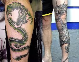 тату на голени от маленьких до больших вокруг всей ноги