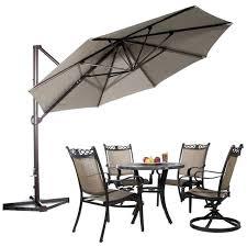 11 foot umbrella ft offset cantilever umbrella outdoor patio umbrella w cross cover