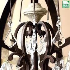 weathered wooden mixed metal orb chandelier world market wood and
