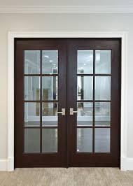 Interior Door Custom Double Solid Wood with Dark Mahogany